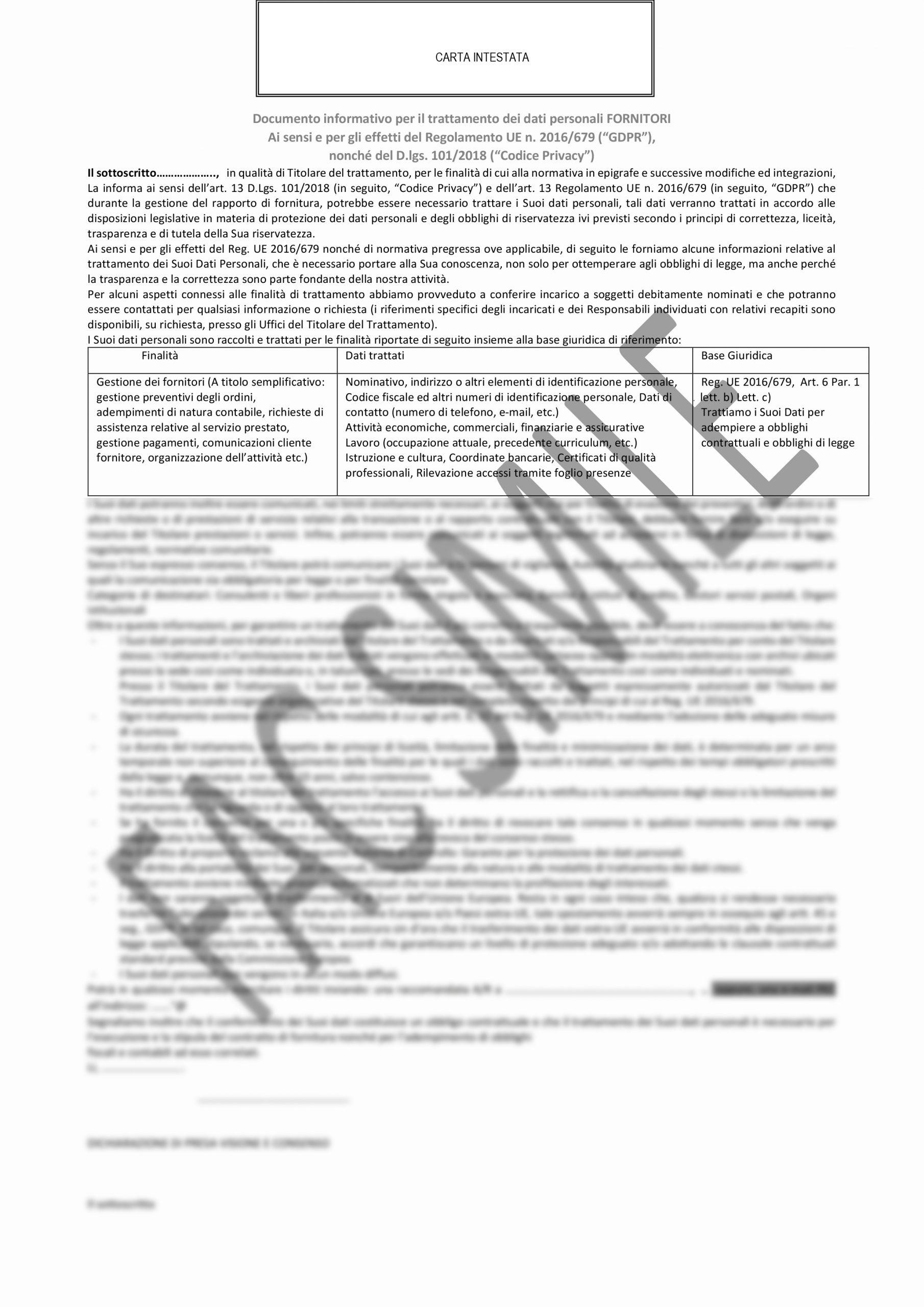 Microsoft Word - FACSIMILE Informativa per fornitori.docx