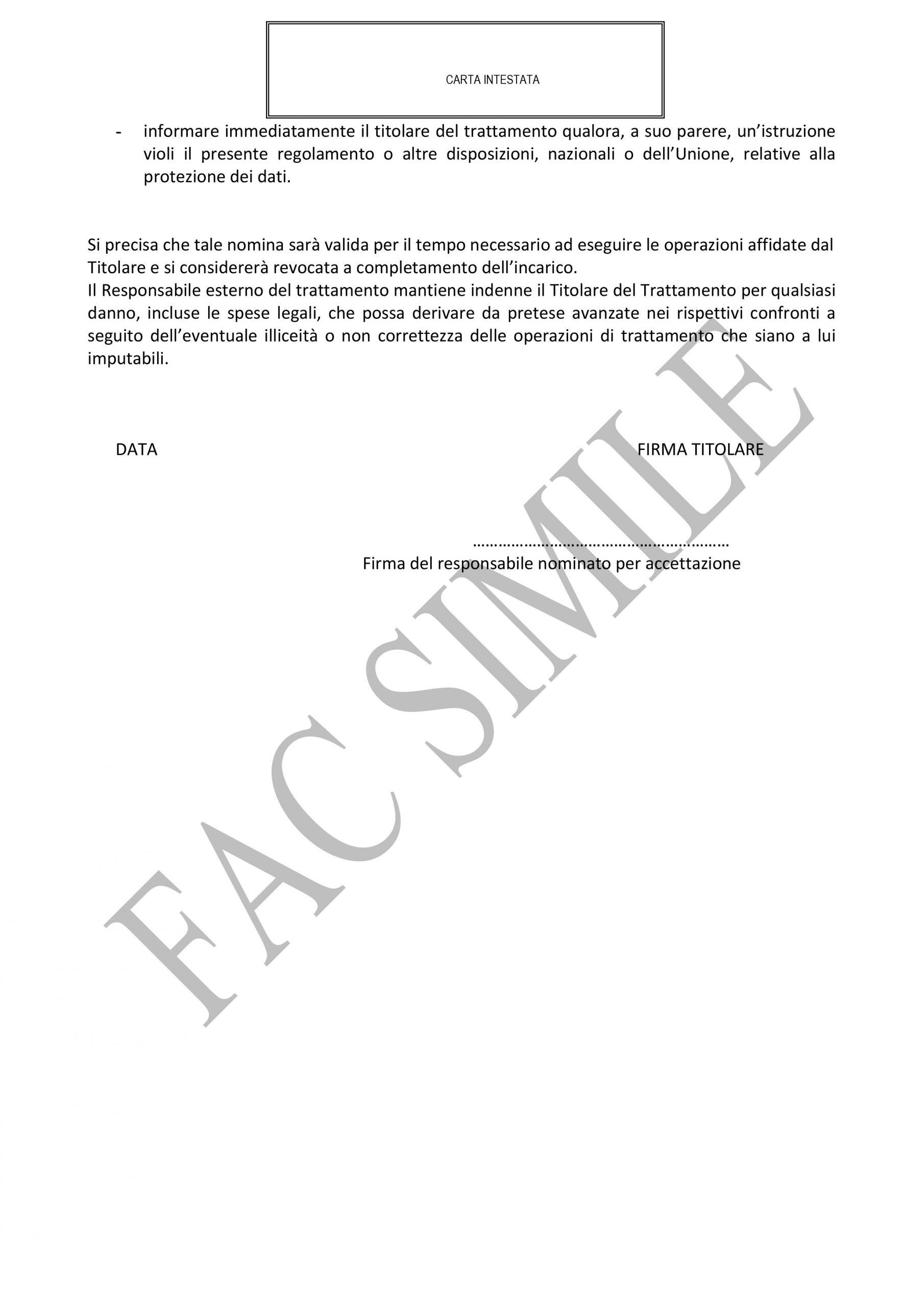Microsoft Word - FACSIMILE Modello nomina responsabile esterno..